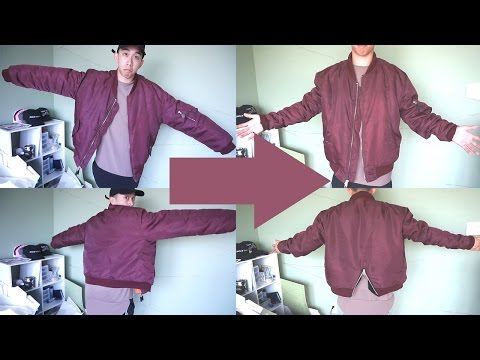 How to Slim An Oversized Bomber Jacket