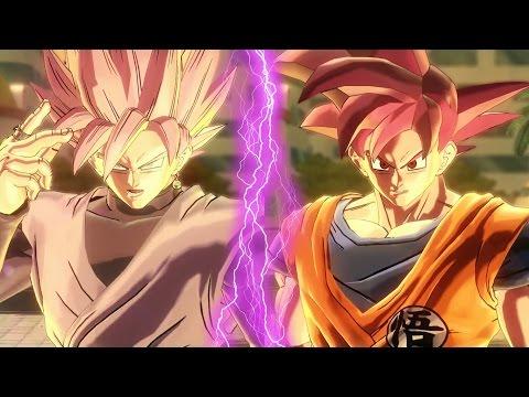 BLACK Goku ROSE vs GOKU Super Saiyan GOD   Dragon Ball Xenoverse 2