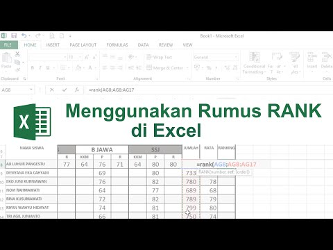 Menentukan Ranking Menggunakan Rumus 'RANK' di Excel