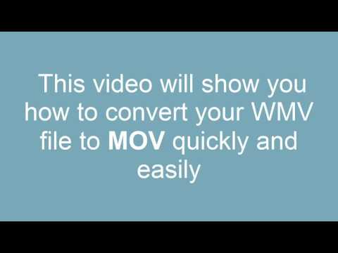 How to Convert WMV to MOV