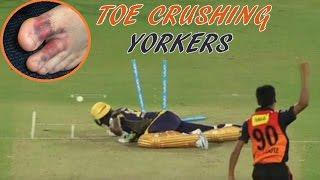 Top 10 Toe Crushing Yorkers in Cricket || Batsman Fall & Injured