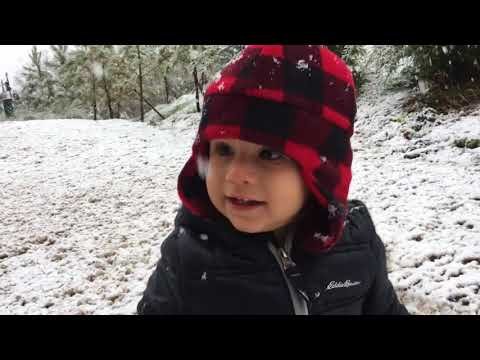 1yr Old FIRST Time In The SNOW!!!