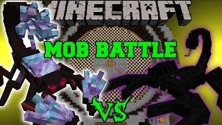 CRYSTAL SCORPION VS EMPEROR SCORPION & KING KONG - Minecraft Mob Battles - Mods