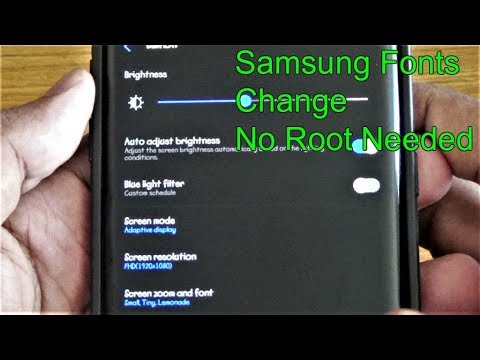 Install Fonts || Samsung || No Root Needed