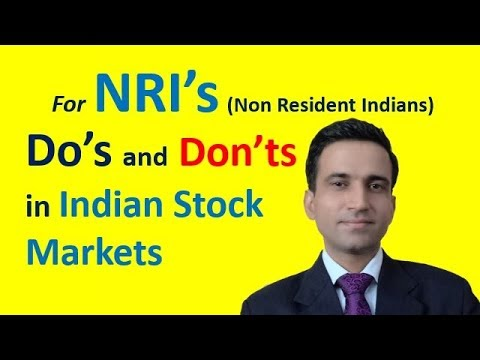 How NRI's can invest in Indian Stock Markets? | NRI's का स्टॉक मार्किट में इन्वेस्टमेंट