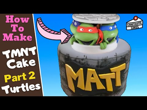How to Make a Teenage Mutant Ninja Turtles Cake Topper Decoration Caketastic Instructions TMNT