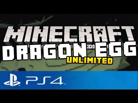 Minecraft PS4 - DRAGON EGG - Unlimited Dragon Eggs ( Tutorial on Minecraft Playstation 4 Edition )