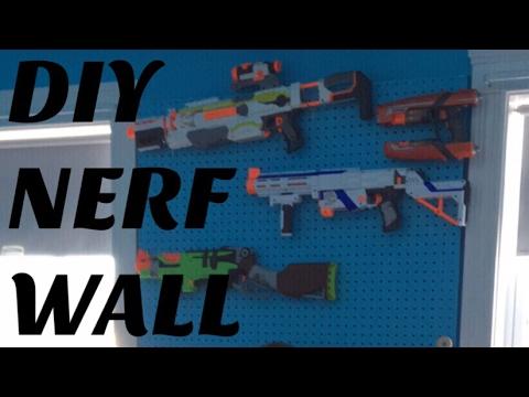 DIY Nerf Storage Wall