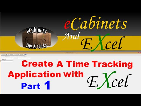 Making a Time Tracking Application in excel 1