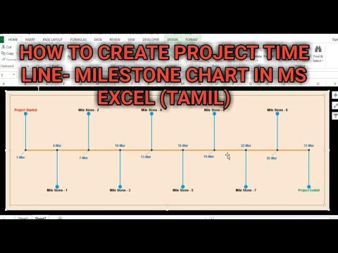 HOW TO CREATE PROJECT TIME LINE - MILESTONE CHART IN MS EXCEL (TAMIL) | Kallanai YT