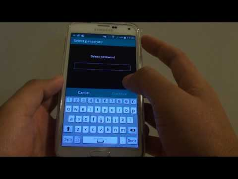 Samsung Galaxy S5: How to Set Screen Lock Password