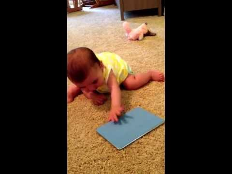 Working on the transition from sitting to crawling