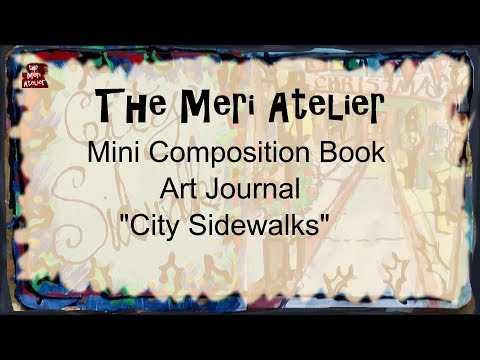 Mini Composition Book Art Journal, City Sidewalks