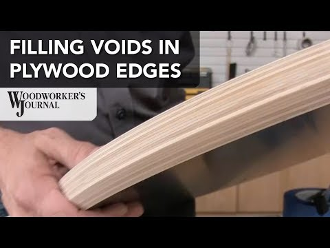 How to Fill Exposed Plywood Edges to Match Finished Wood