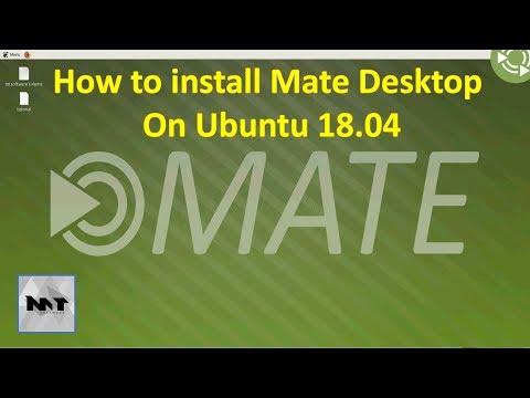 How to install Mate Desktop on Ubuntu 18.04