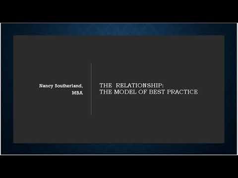 MKTG 3740 The Relationship The Model of Best Practice