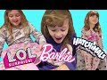 LOL Surprise Dolls Hatchimals and Barbie Toys Advent Fun with Ava Isla Olivia