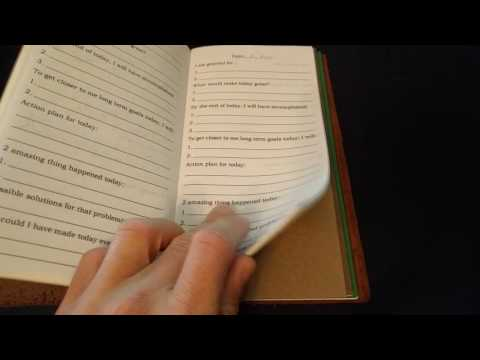 Making Your Own 5 Minute Journal Customized In Midori Notebook
