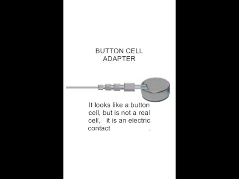 Button cell  battery adapter and rechargeable hearing aid battery