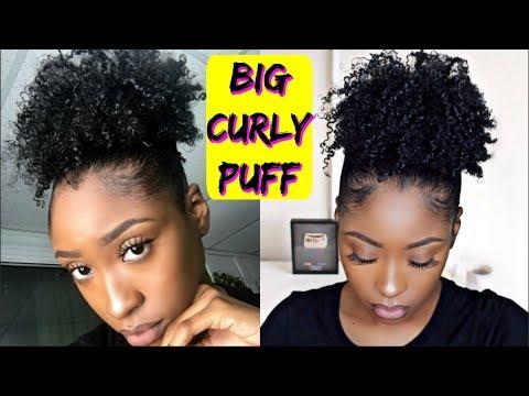 BIG SLEEK High Puff on Short Natural Hair | Super Defined Curls!