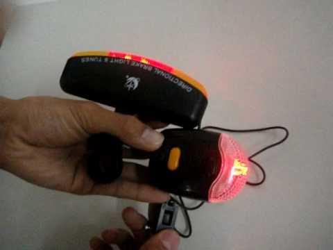 Bike Safety System with Mounts-Brake Light, Turning Lights with Sound, Night Light, Horn