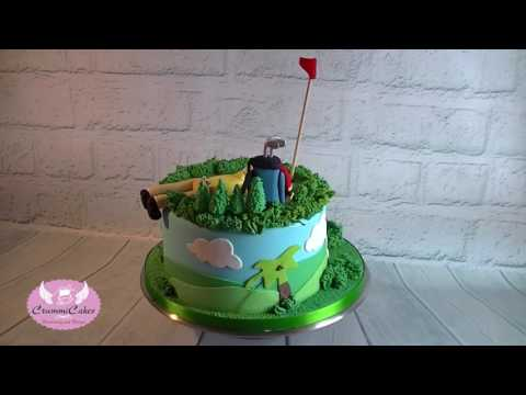 Golf Cake by CrummiCakes