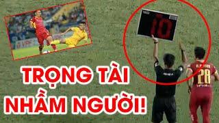 SLNA bức xúc trọng tài thay nhầm người, cầu thủ Nam Định tung gầm giày không bị phạt | NEXT SPORTS