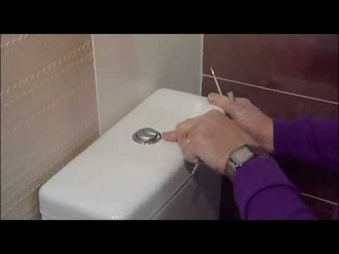 How to fix water running into a pan from a push button cistern.