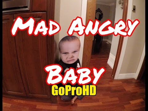 Mad Angry Baby (GoPro HD) - Funny Baby Video Try Not To Laugh