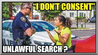 """"""" I Do Not Consent """" - UNLAWFUL SEARCH ? - First Amendment Audit 52 - East Hampton, NY Police"""