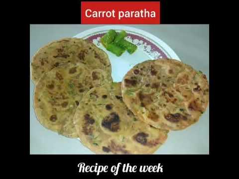 Carrot paratha/ healthy paratha/ગાજરના પરોઠા/ફટાફટ બની જાય એવા પૌષ્ટિક પરોઠા