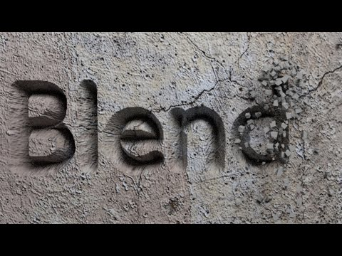 Blender Tutorial: Stone Carving Animation
