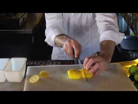 How to Cut a Lemon: Cutting Lemons Slices Bartending Tutorial