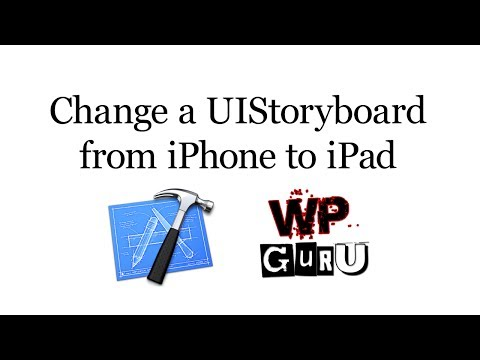 How to change a UIStoryboard from iPhone to iPad in Xcode 5