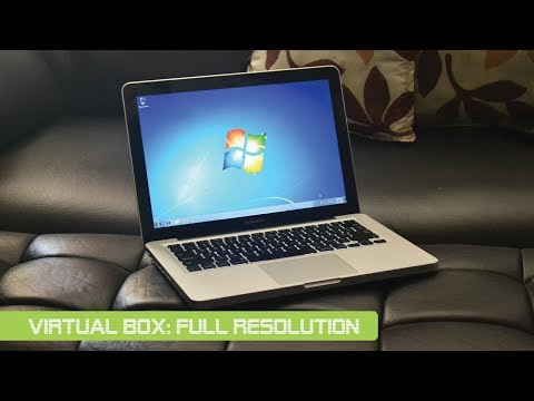 How to configure virtual box to full screen resolution on Mac