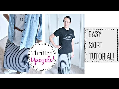 ✂️ DIY SKIRT TUTORIAL | MODEST FASHION | THRIFTED UPCYCLE! 👜