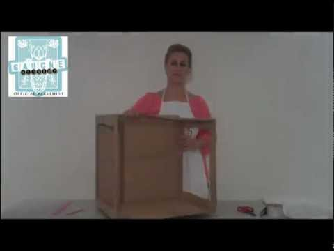 how to create a lightbox out of a cardboard box and a white sheet