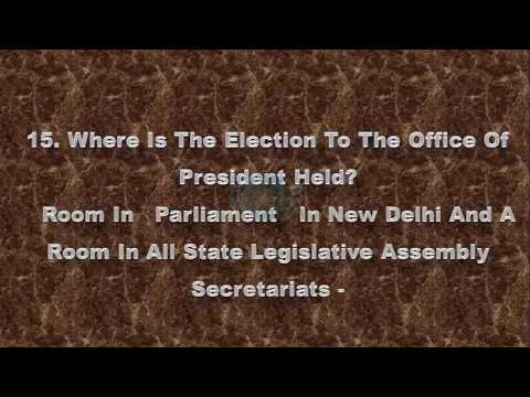 Election of President of India   FAQ