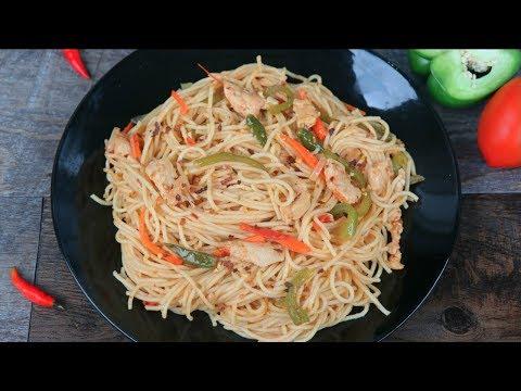 চিকেন ভেজিটেবল স্প্যেগেটি || Easy Chicken Vegetable Spaghetti || Spaghetti Recipe Bangla