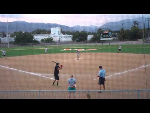 Monster Home Run With Shaved Bat : Game 2 : FBC Softball 2015