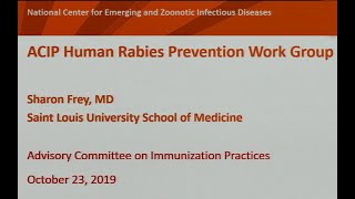 October 2019 ACIP Meeting - Rabies Vaccine