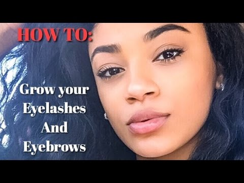 How to Grow your Eyelashes & Eyebrows | jasmeannnn