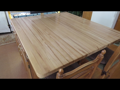 Building Butcher Block Counter Tops From A Back Yard Maple