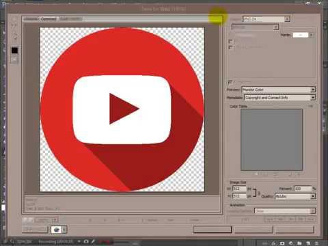 Adobe Photoshop CS6 - How to make a flat material design icon