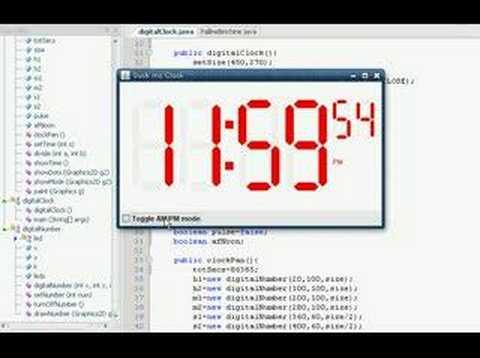 Java Digital Clock