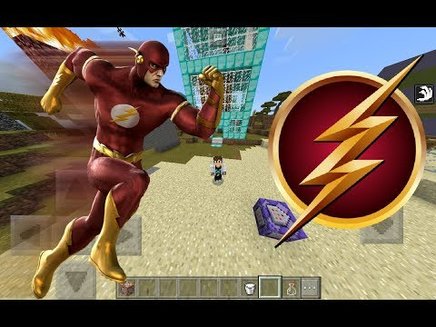 How to become the flash in minecraft pe no mods