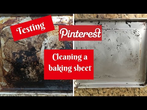Putting Pinterest To The Test In The Kitchen - Cleaning A Baking Sheet