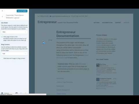 Entrepreneur WordPress Theme: Exploring Your Layout Options  (Step 8)