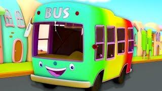 Wheels on the Bus   Nursery Rhymes for Children - Bob the Train Cartoons