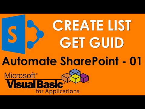S01E01-Create SharePoint Custom List and get GUID for List Table